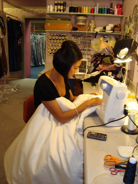 In 2009, I spent my days shadowing a local bridal seamstress in Davenport, Iowa.