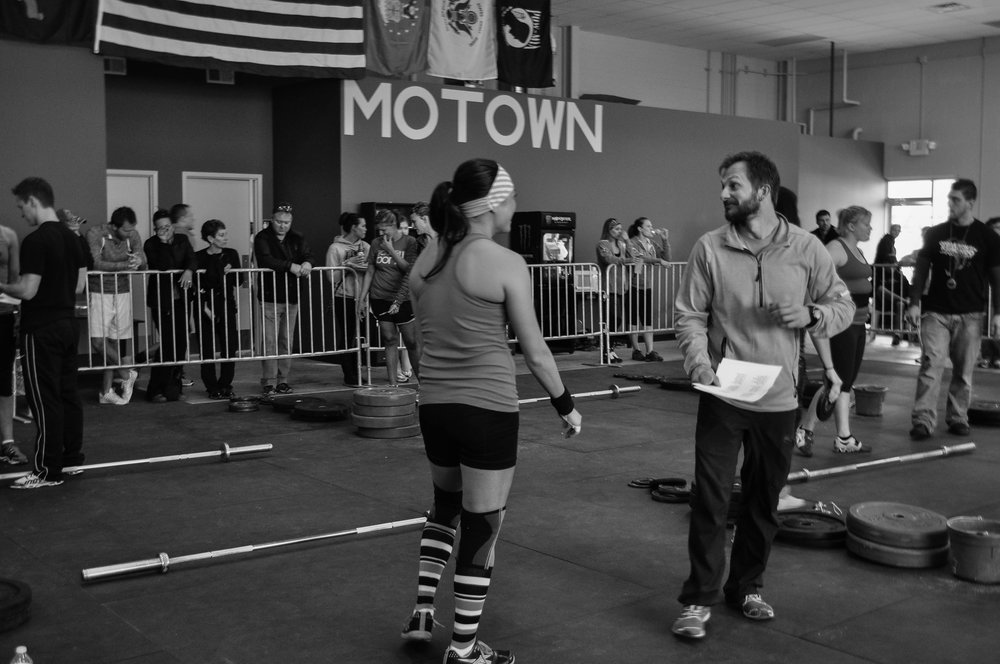 My first Crossfit competition in April 2013.