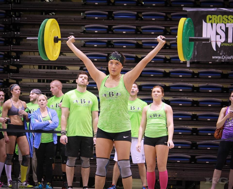 Competing in Springfield, Illinois at Rock 'n Wod, October 2014.