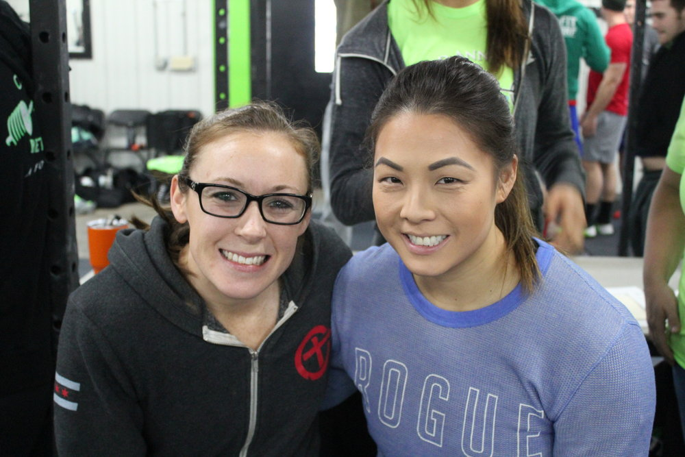 Team member Ellen and I before competing!  Photo Credit: The Beardsleys
