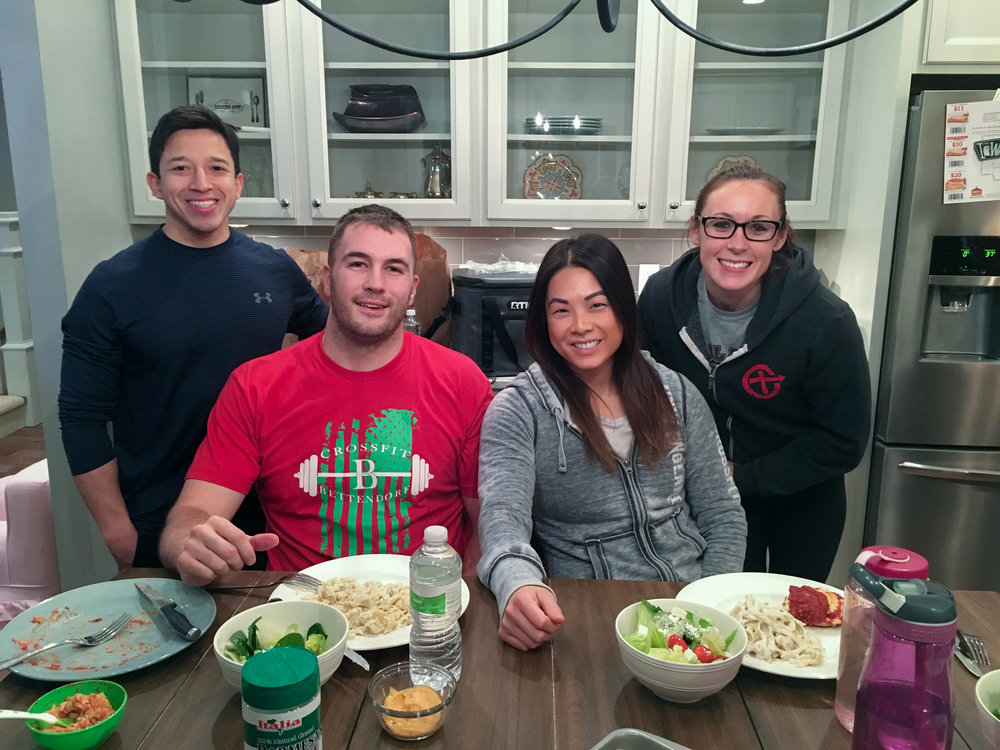 Team dinner the night before the Crossfit Bettendorf Invitational!  Photo Credit: Whitney :)