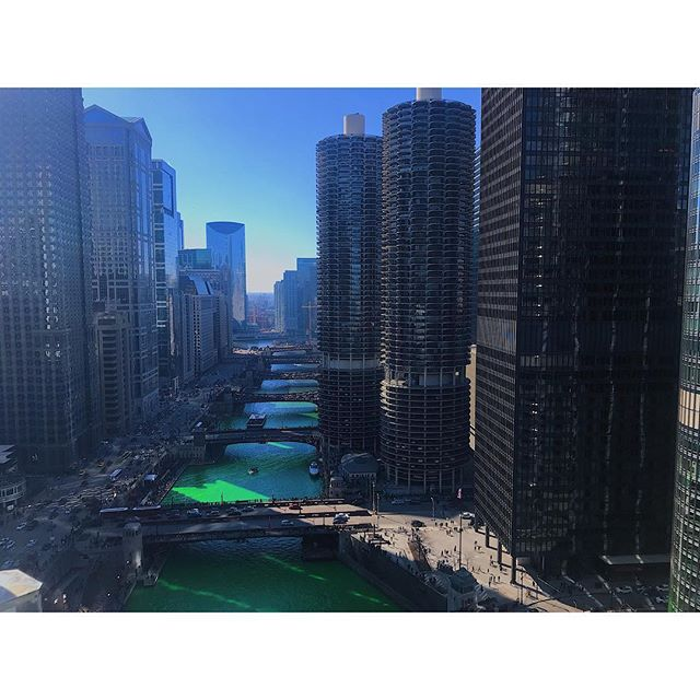 4️⃣0️⃣lbs of dye later... Chicago gets this Emerald beauty 🍀🍀🍀 #stpatsday #sanfords30journey