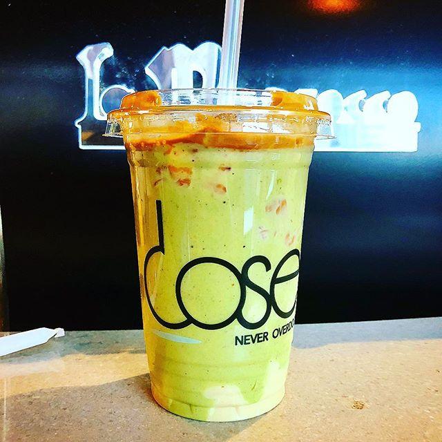 Iced pistachio latte... @dosecafe_ksa