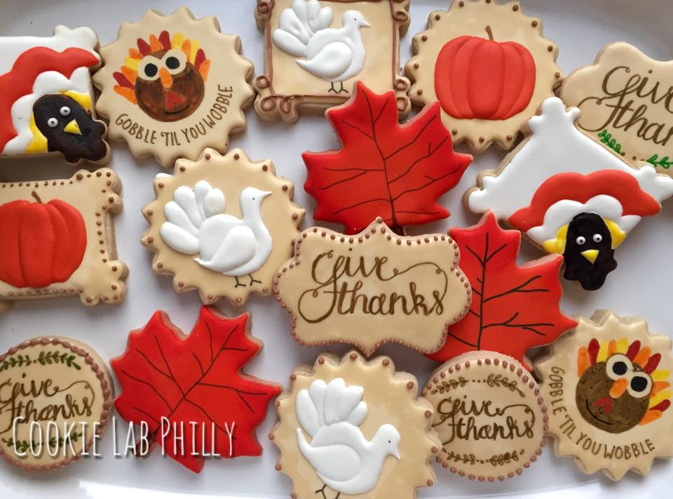 Thanksgiving cookies. Thanksgiving cookies. Hanukkah decorated cookies