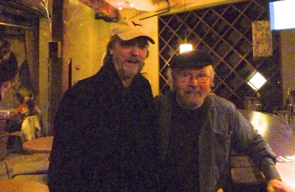 With iconic singer, songwriter, activist Tom Paxton following his successful Nov. 2013 concert at City Winery, NYC. The writer of A Job of Work's title track, Tom was instrumental in tracking down the long-lost rights to the song from the depth's of EMI's song vaults. Thank you, Tom! And thanks, Tom, for enjoying my re-arrangement of your stunning song!