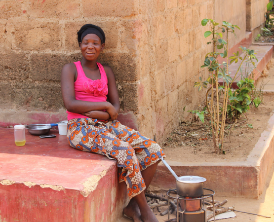 New stove-owner in Chipata township.