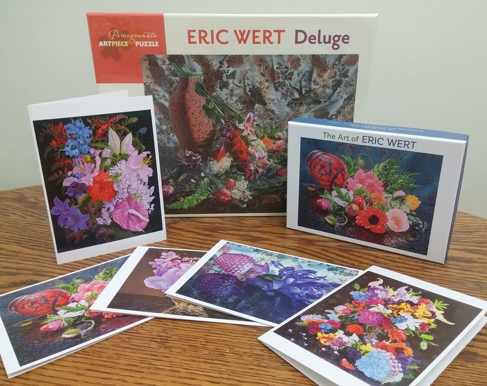 Puzzles and Note cards available from Pomegranate Press.    Available Here