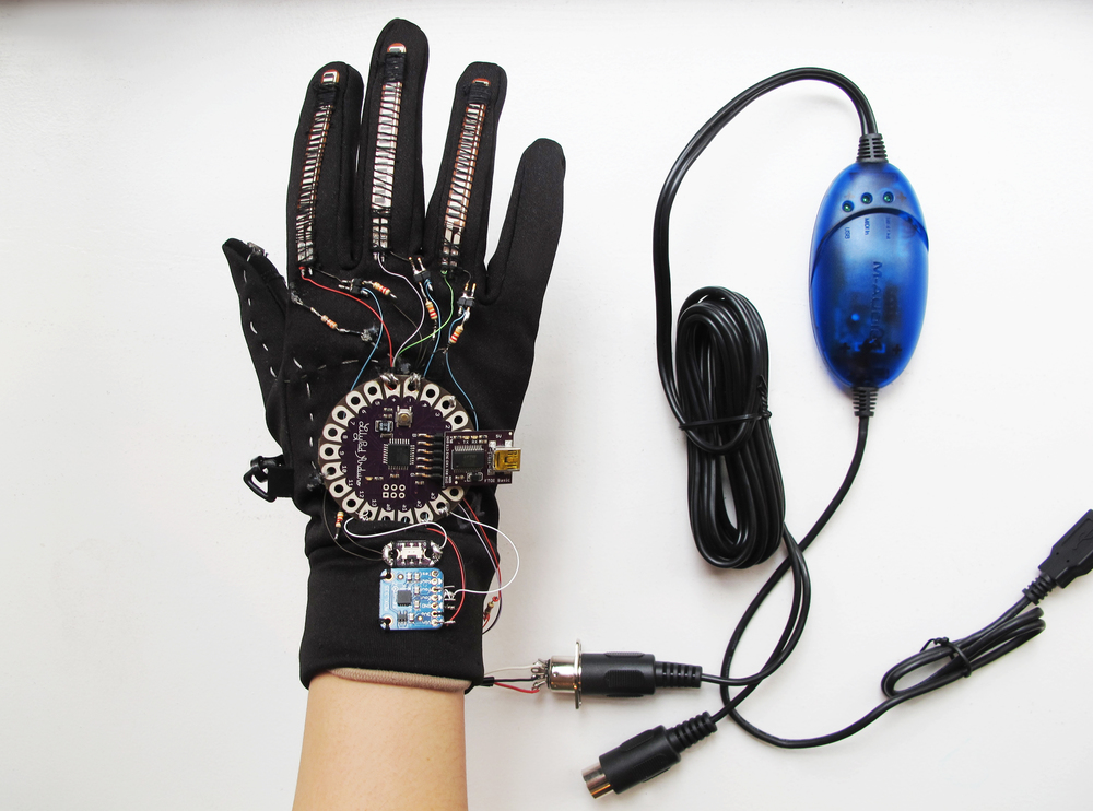 The Musical Glove with a MIDI USB cable