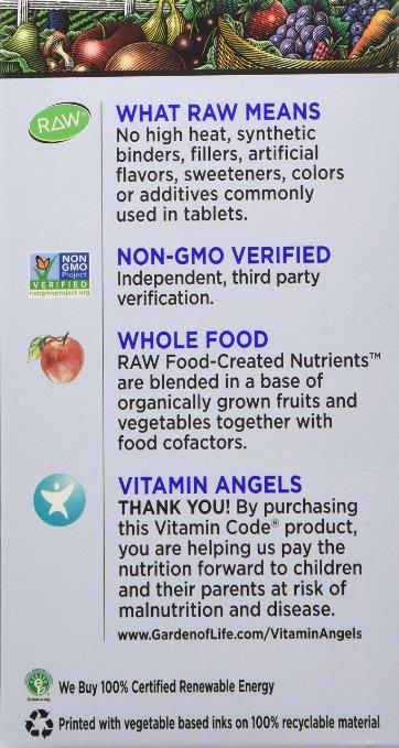 Garden Of Life Raw Vitamin Code Men 120 Capsules