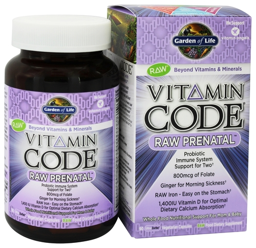 Garden of Life Vitamin Code Raw Prenatal 90 capsules The Organic