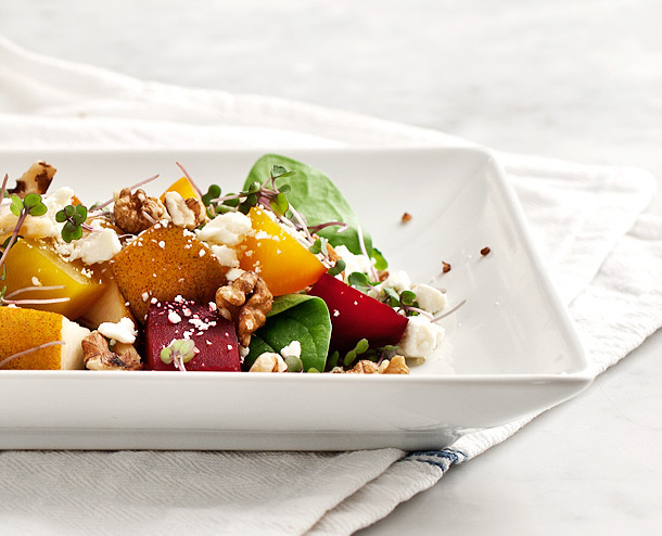 Roasted Beet, Asian Pear & Walnut Salad