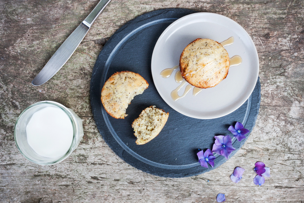Lemon and Chia Seed Muffins with Wild Honey Glaze