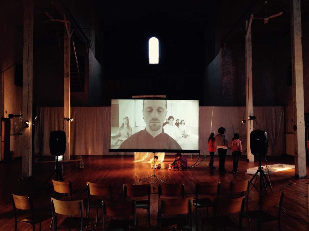 Technical rehearsal for the screening of 20-22: ALPHA at Galerie de la Fondation Huhomiste (www.20-22.com)