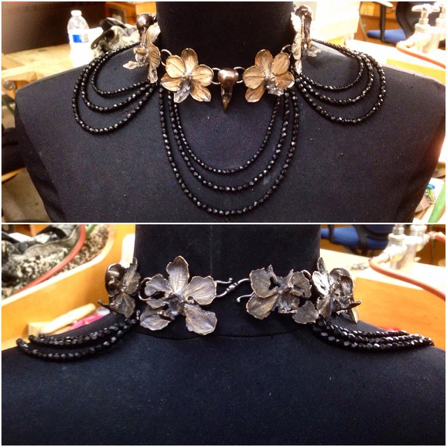 Finally finished my multiple link casting project! Title: (Lady Elizabeth's) Mourning Collar.