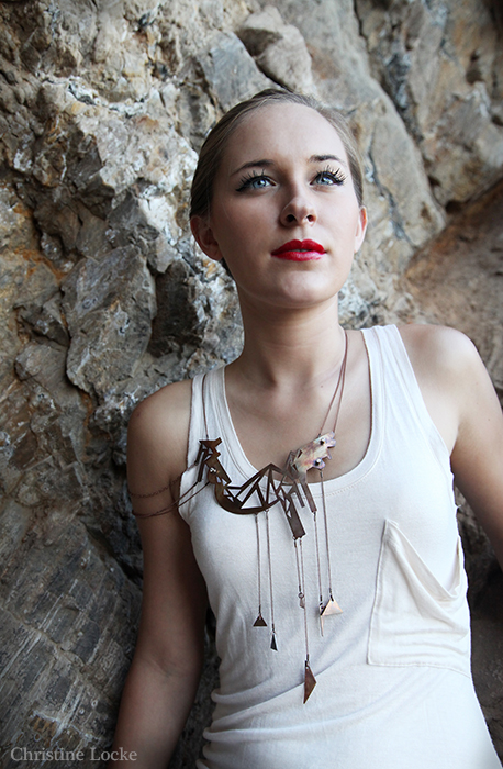 Copper: cz stones  2014  Christine Locke