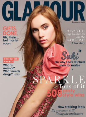 Clockework and Lace is featured in the December 2016 Glaumour UK magazine.