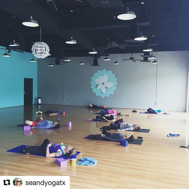 """Find your safe place:  10 am flow w/ Nosa 5:30 flow w/ Candice 7:00 acro w/ Nosa 7:30 flow w/ Leslie  #Repost @seandyogatx with @repostapp ・・・ """"Courage doesn't always roar. Sometimes courage is the little voice at the end of the day that says I'll try again tomorrow."""" - Mary Anne Radmacher  I've been seeking solace and inspiration wherever I can this week, and one word keeps coming up: #courage. Wind the clock; try again tomorrow.  @yogaeado #yogaeado #eado #downtownhouston #htx #houstonyoga #sundayfunday #yoga #yogaeverywhere #yogaeverydamnday"""