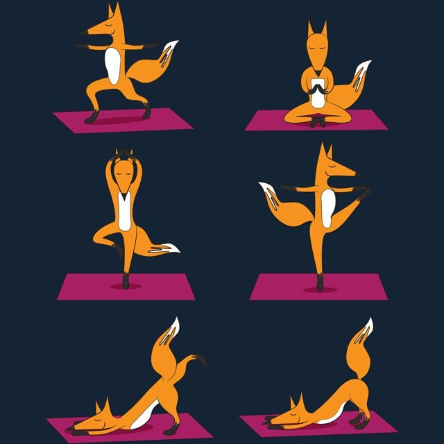 Tap into your inner fox tonight! Come flow with us, fam🐺🙏 #yogaeado #foxyyoga #foxyeverydangday