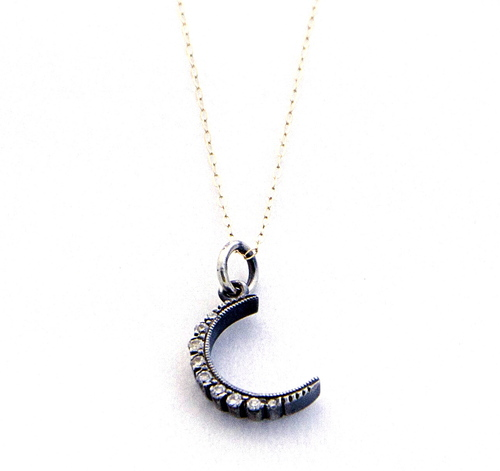 Diamond moon pendant mother of gideon diamond moon pendant aloadofball Image collections
