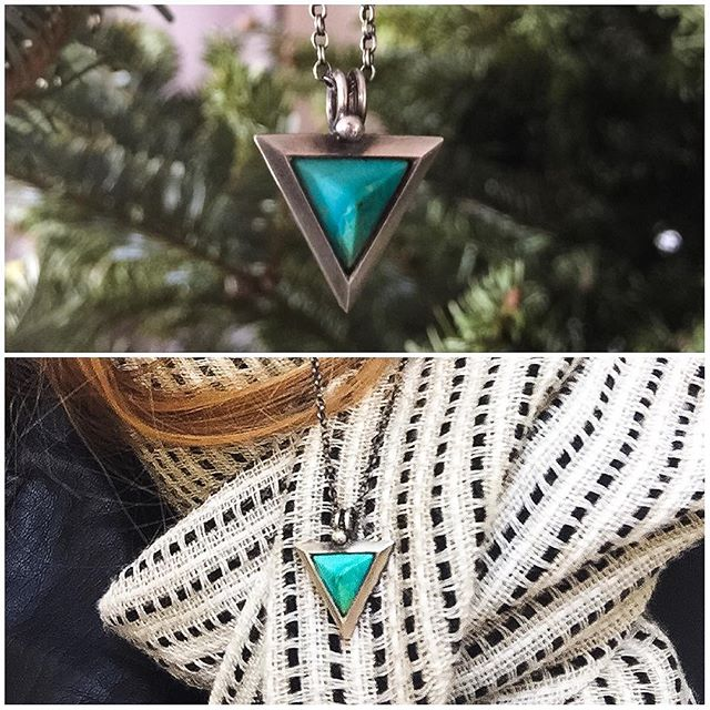 #bespoke #Arizona #turquoise #silver and #copper #necklace for @mariatresa from @rainmade.design ⚡️thanks for the great pics guys!