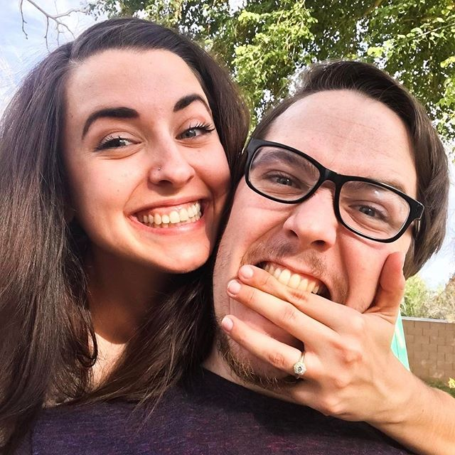 Congratulations Ben and Rebecca ⚡❤ #gold #diamond #bespoke #engagement #ring