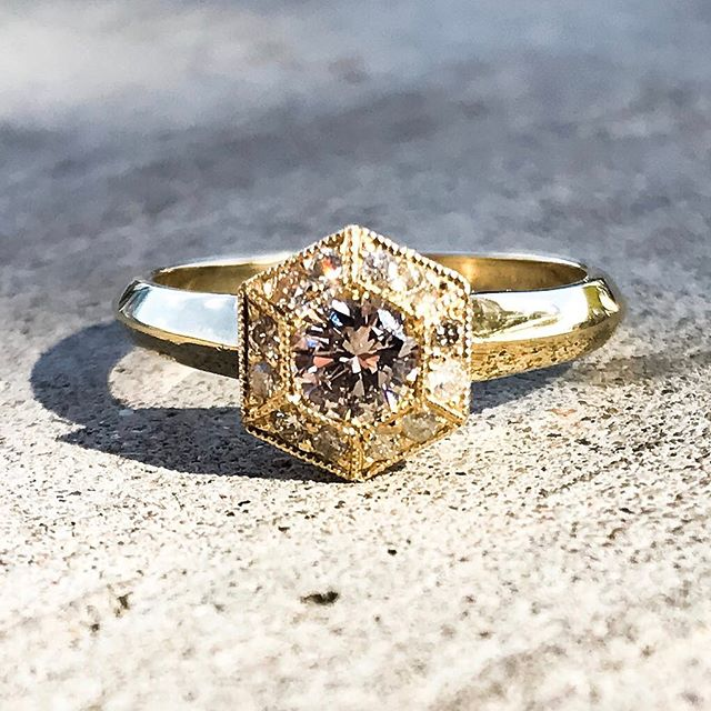 Congratulations Bennie and Rebecca! It was an honor to make this for you old friend. May it bring you a lifetime of joy, love and prosperity. #gold and #diamond #engagement #ring