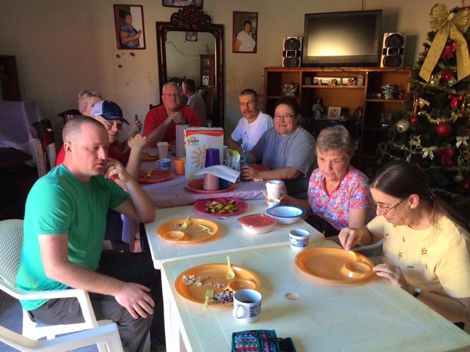 Devotions, held in common with family and friends back home, followed dinner each evening.