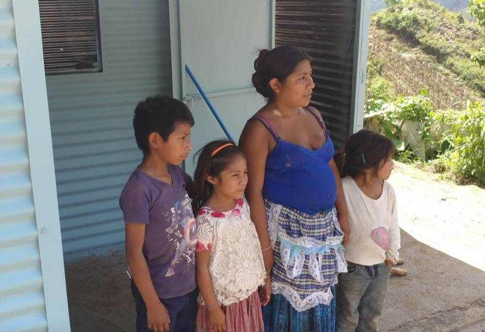 One of two families who received a new house!   Coban Province, Guatemala. 8/18