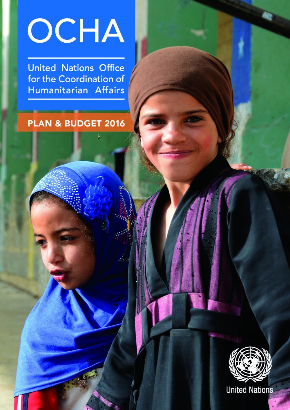 OCHA Plan & Budget 2016