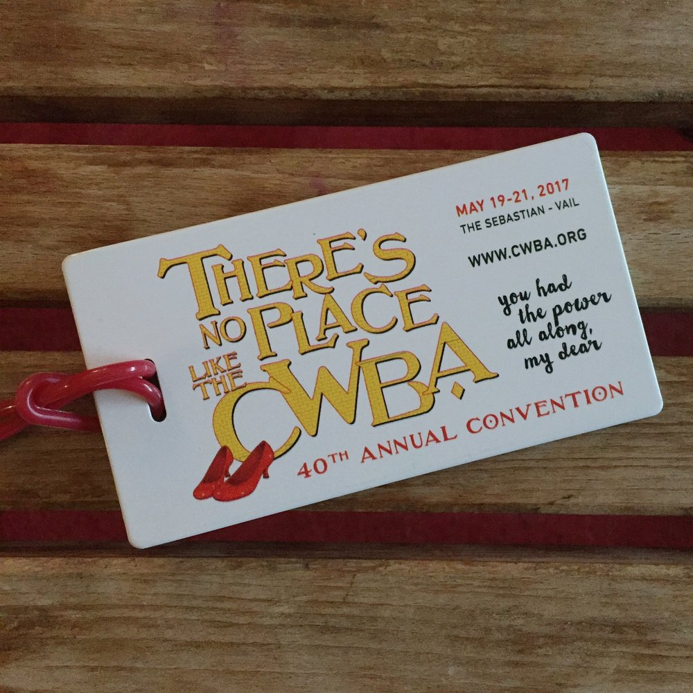 CWBA convention logo travel tag