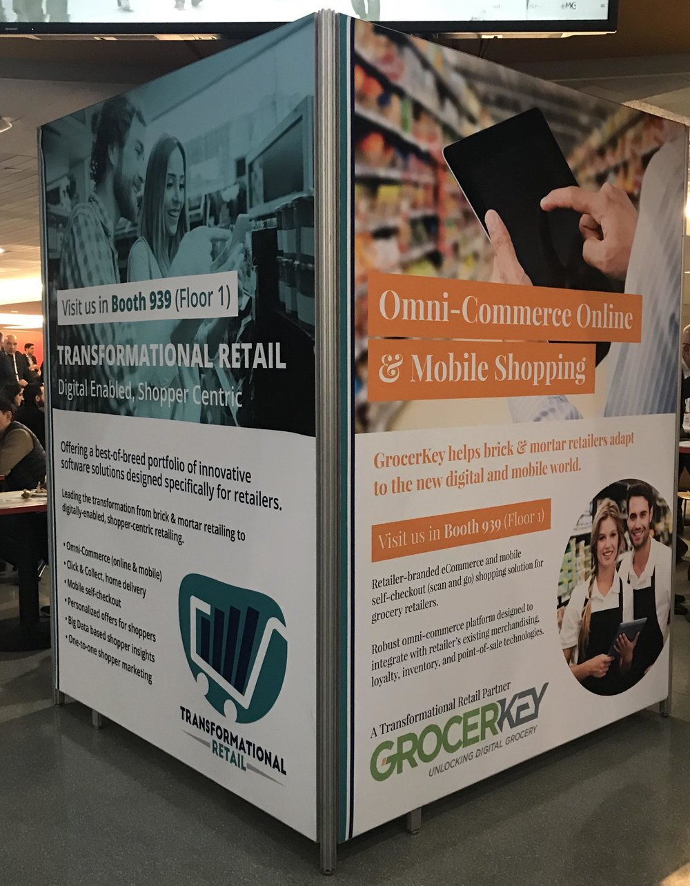 Transformational Retail & GrocerKey column wrap at NRF2018
