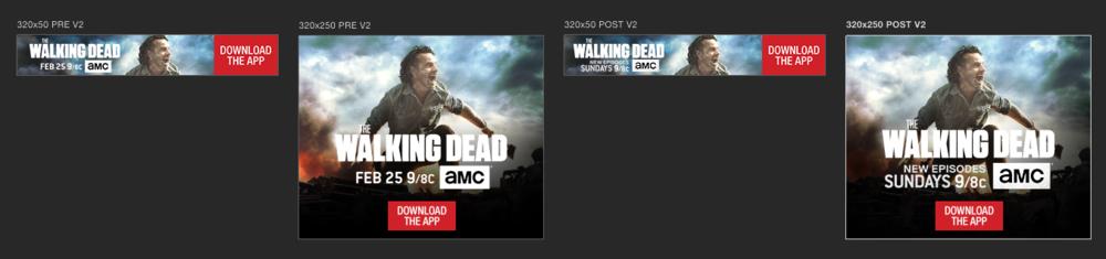 The Walking Dead app screen