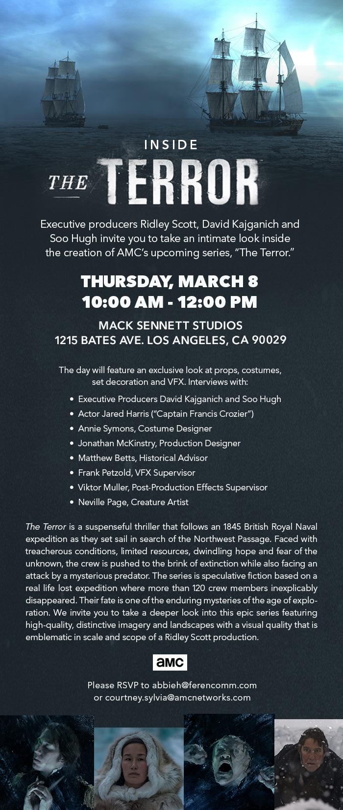 The Terror Event invite (eblast)