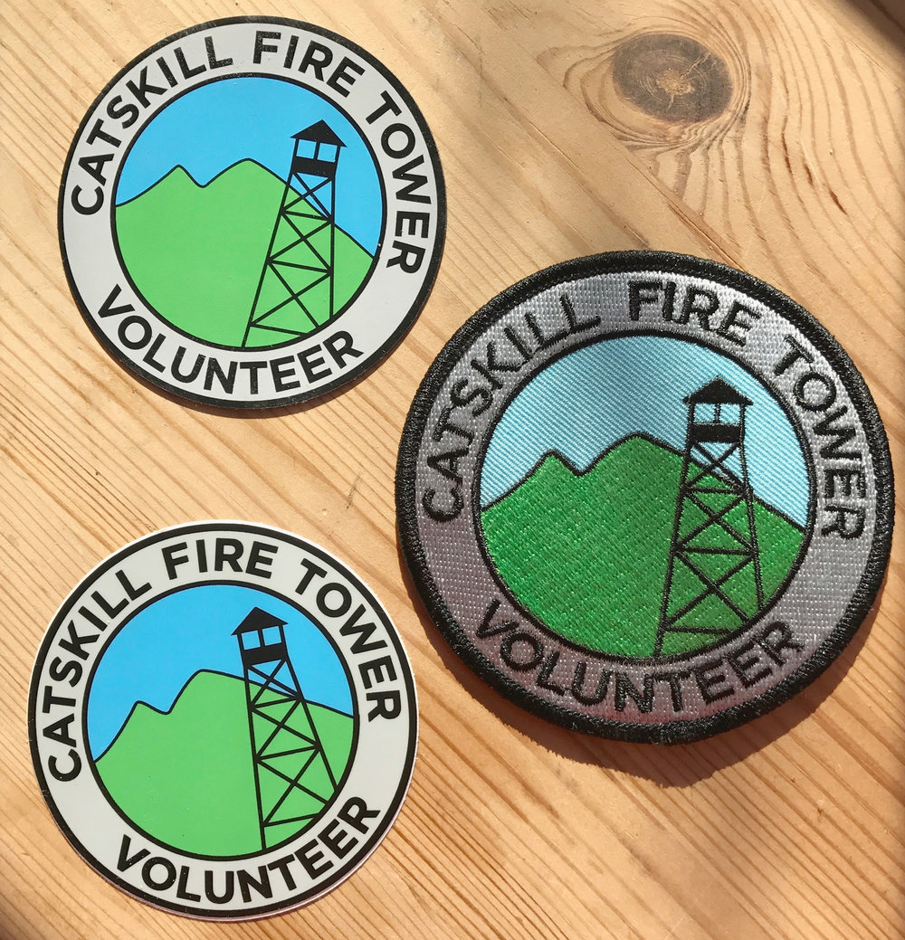 Catskill Fire Tower Patch, Magnet & Decal