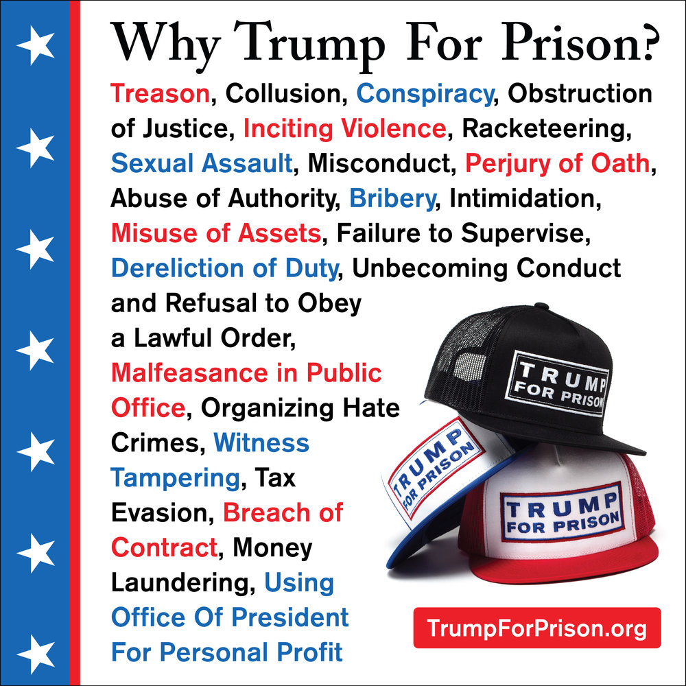 Trump For Prison Crimes List