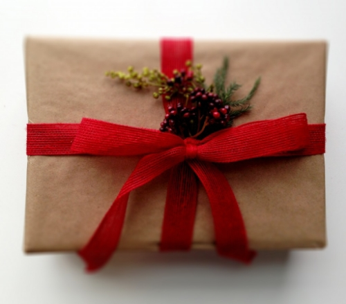 Spruced up gift wrap inspired by Balsam Fir Plum