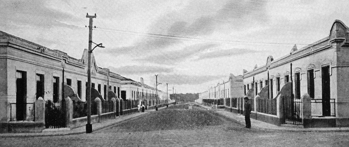 A typical residential street at Vila Maria Zélia. 1917