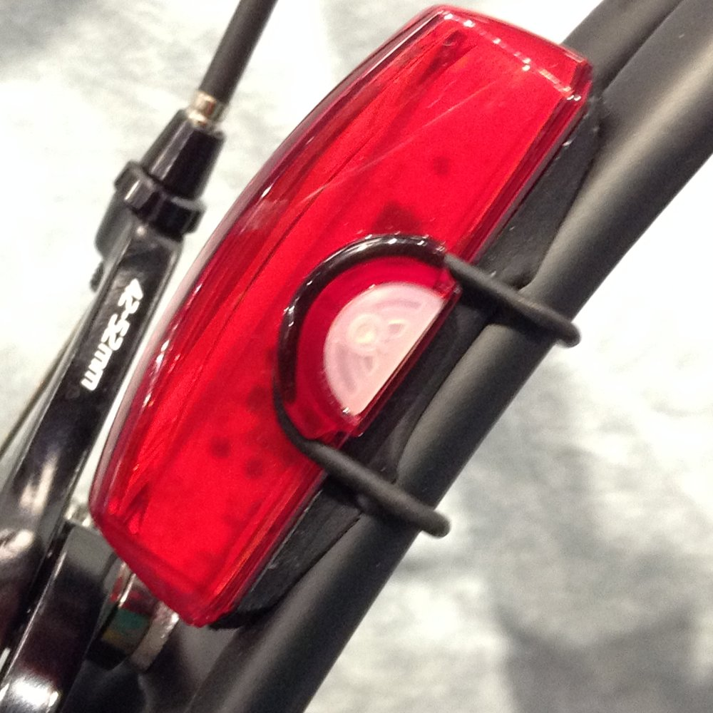CatEye Tail Lights look like they are molded into the frame at first glance.  They are super bright, excellent quality, a terriffic value and best of all, in stock at BicycleSports.com       Bright enough to use a DayTime running Lights !