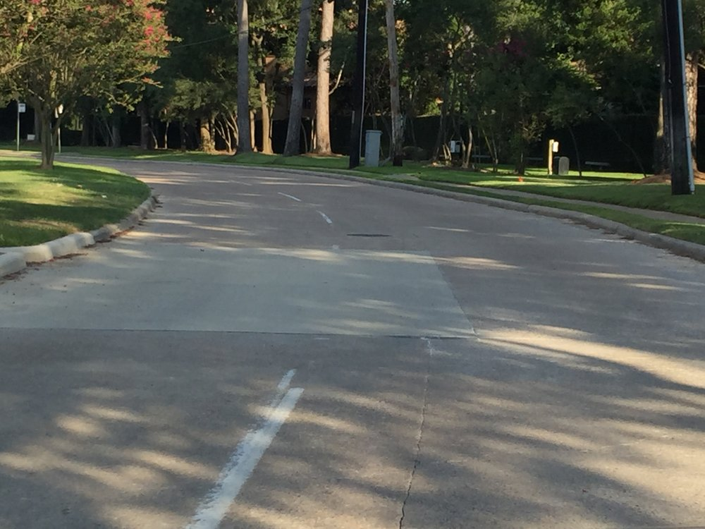 Memorial Drive in Houston, Texas is getting a Hybrid Street. The inside or Travel Lane is 9 feet 9 inches from the inside of the curb to the center of the stripe. The outside lane is 14 feet 3 inches from the inside of the curb to the center of the stripe. We took several measurements over several blocks. 07.30.17This sets a precident Beaumont, TX can follow.