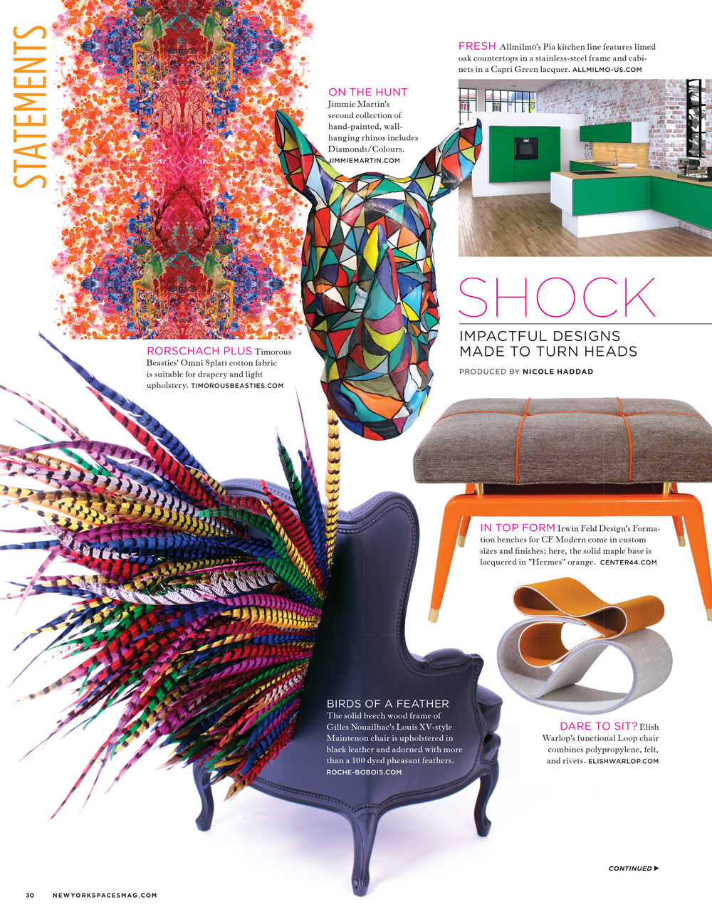 New York Spaces Magazine   |   Fall 2014   |   'Hermes' Orange Formation Bench