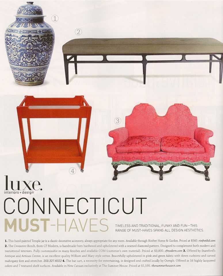 LUXE Interiors + Design Magazine   |   Summer 2012   |   Proportion Tufted Bench