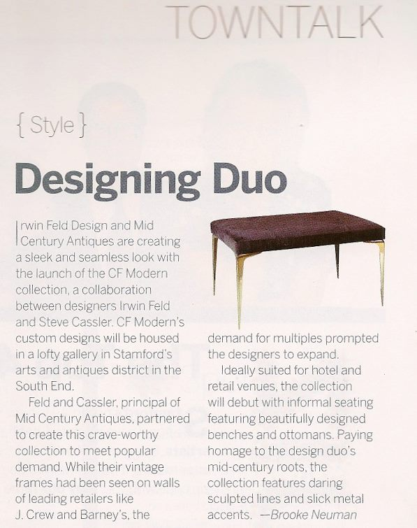 Stamford Magazine   |   Spring 2012   |   Stiletto Bench