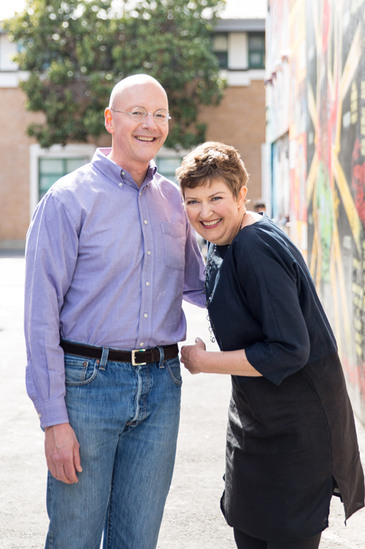 Chuck and Betsy, May 2014: the beginning of our F13 collaboration.  Photo by  Sarah   Deragon.