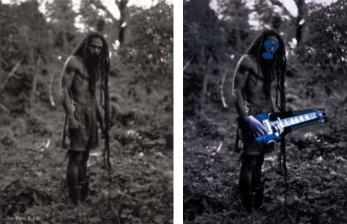 images by Patrick Cariou (left) and Richard Prince (right) / source: http://www.artlawreport.com/files/2011/12/Prince-Gagosian-Appeals-Brief-B1363742.pdf