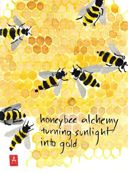 """honeybee alchemy"" © Annette Makino"