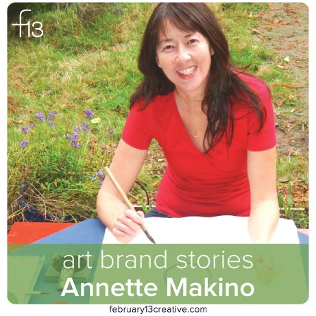 F13 Creative Art Brand Stories: Haiga artist, Annette Makino