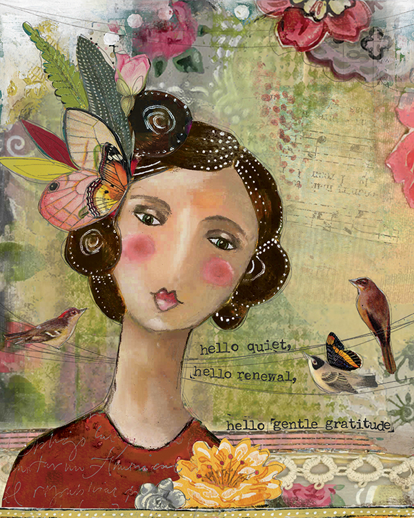 """Hello Gentle Gratitude"" © Kelly Rae Roberts"
