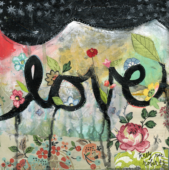 """Love"" © Kelly Rae Roberts"