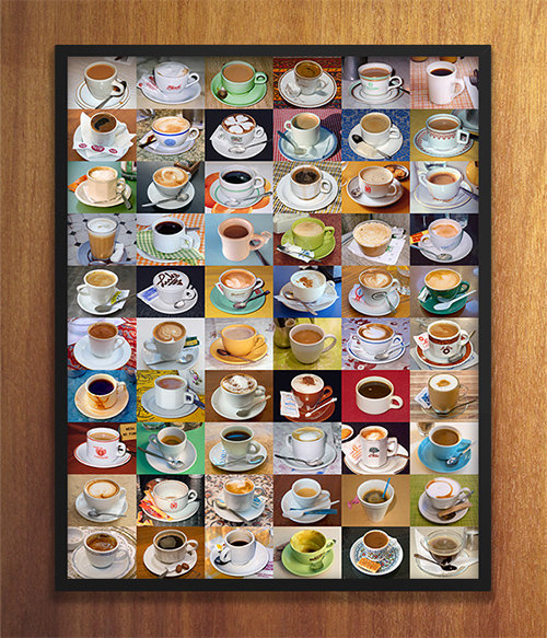 My morning travel ritual: cups of coffee from around the world, print available in my etsy shop. ©2015 Troy Litten