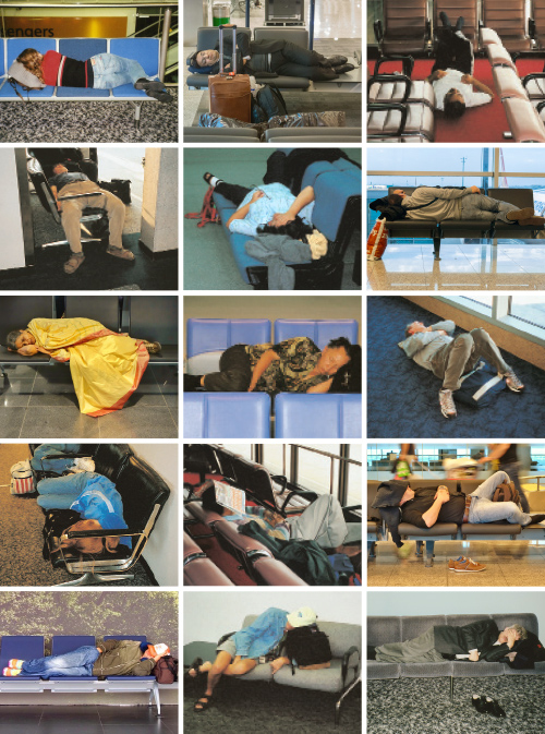 Airport snoozing. ©2015 Troy Litten